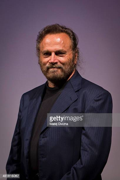 Italian actor Franco Nero presents 'Obsessive Rhythms' film at the 49th Karlovy Vary International Film Festival on July 6 2014 in Karlovy Vary Czech...