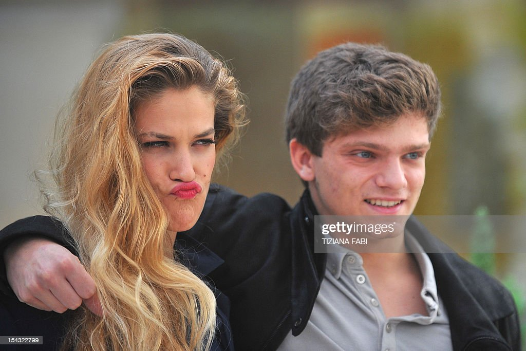 Italian actor Jacopo Olmi Antinori (R) and Italian actress Tea Falco pose during the photocall for 'Io e Te' (Me and You) on October 18, 2012 in Rome. 'Io and Te' by Italian film director Bernardo Bertolucci was presented during the 2012 Cannes film festival.