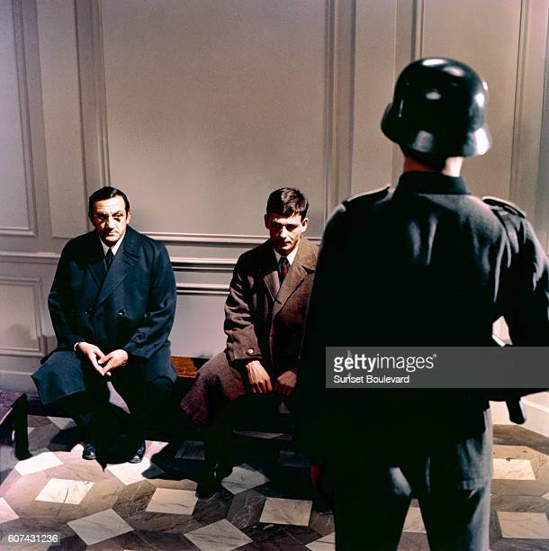 Italian actor Lino Ventura on the set of L'Armée des Ombres based on the novel by Joseph Kessel and directed by JeanPierre Melville