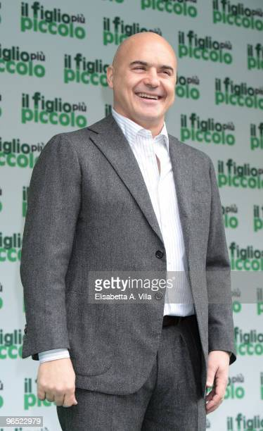 Italian actor Luca Zingaretti attends 'Il Figlio Piu Piccolo' photocall at Embassy Cinema on February 9 2010 in Rome Italy