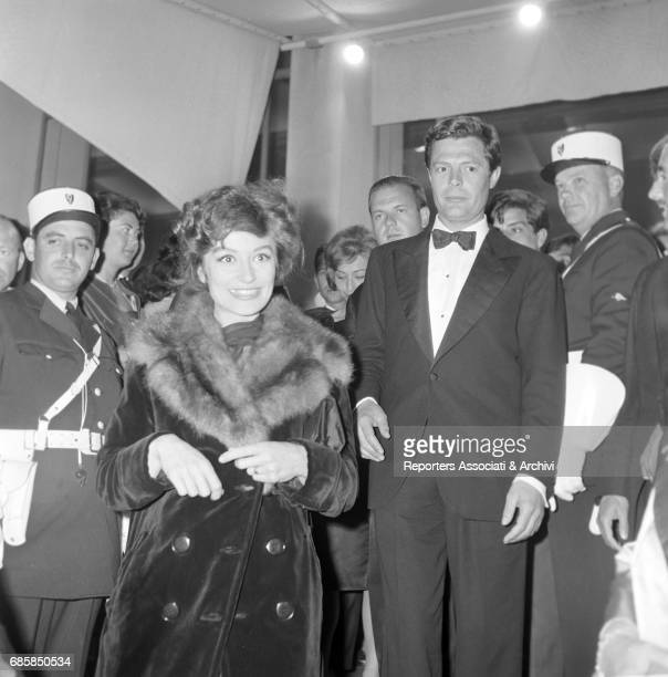 Italian actor Marcello Mastroianni and French actress Anouk Aim'e at the premiere of La dolce vita Cannes 1960