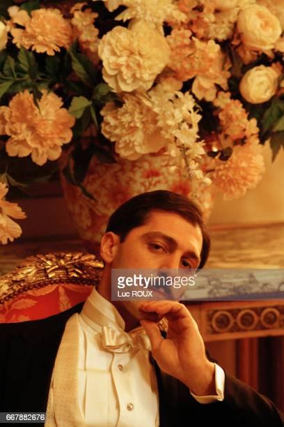 Italian actor Marcello Mazzarella on the set of the film Le Temps Retrouve d'Apres l'Oeuvre de Marcel Proust directed by Raoul Ruiz
