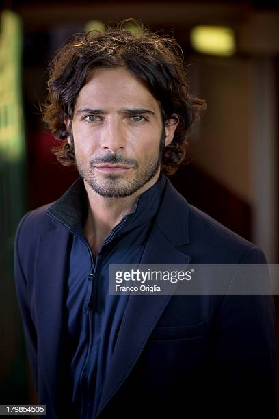 Italian actor Marco Bocci poses for a portrait session as part of the 70th Venice International Film Festival on September 4 2013 in Venice Italy