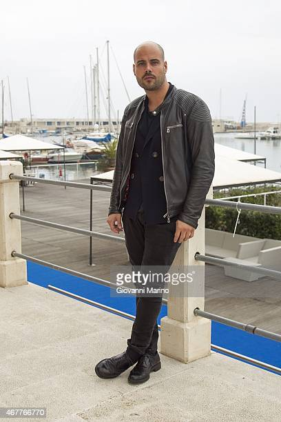 Italian actor Marco D'Amore attends a photocall before the 'Perez' Press Conference during Bifest 2015 on March 27 2015 in Bari Italy
