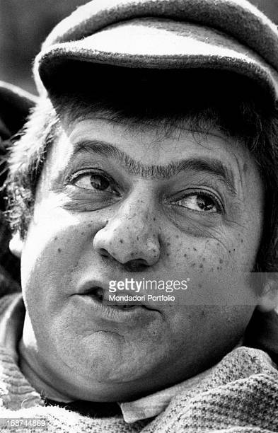 Italian actor Paolo Villaggio acting in the film Without Family Rome 1972