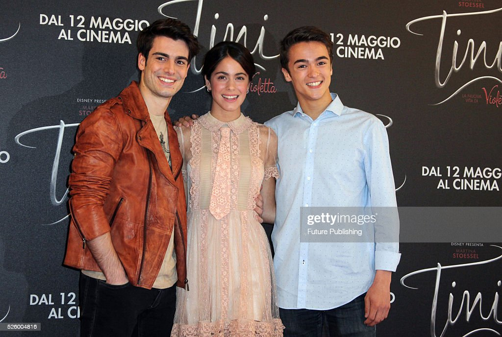 Italian actor Pasquale Di Nuzzo, Argentinian actress Martina Stoessel and Italian actor Leonardo Cecchi pose during a photocall of the movie Tini - La Nuova Vita Di Violetta (Tini - The New Life of Violetta), on April 29,2016 in Rome, Italy. Marco Ravagli / Barcroft Images hello@barcroftmedia.com - +1 212 796 2458 +91 11 4053 2429