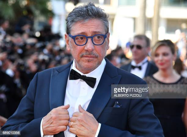 Italian actor Sergio Castellitto arrives on May 27 2017 for the screening of the film 'Based on a True Story' at the 70th edition of the Cannes Film...