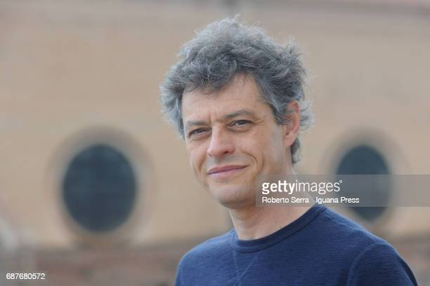 Italian actor Stefano Pesce portrait session upon the roof of the Palazzo d'accursio tower on May 15 2017 in Bologna Italy