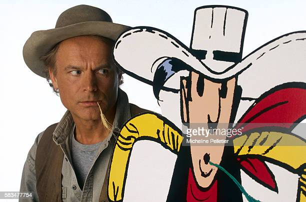 Italian actor Terence Hill plays the title role in the film Lucky Luke based on the popular comic books written by Morris and illustrated by Rene...
