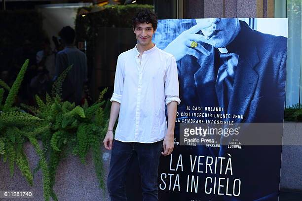 Italian actor Tommaso Lazotti during Photocall of 'La Verità sta in cielo' a film by Roberto Faenza based on the story of Emanuela Orlandi