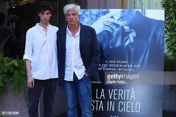 Italian actor Tommaso Lazotti with Pietro Orlandi Emanuela Orlandi's brother during photocall of 'La Verità sta in cielo' a film by Roberto Faenza...