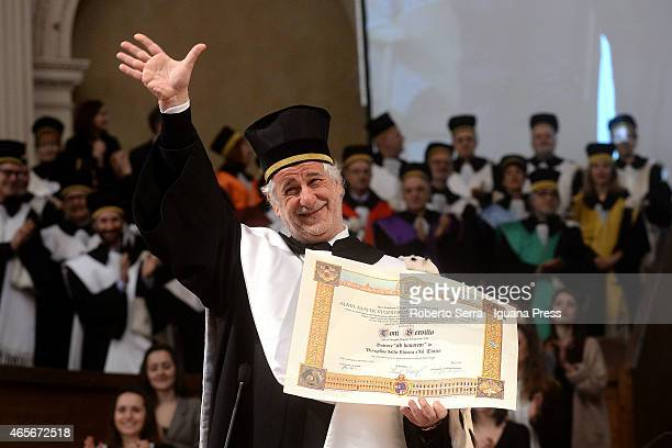 Italian actor Toni Servillo graduated honoris causa in Teather and Music Science at Aula Magna Santa Lucia of Universita degli Studi di Bologna on...
