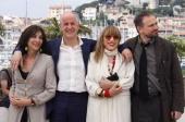 Italian actors Anna Bonaiuto Toni Servillo Piera Degli Esposti and Massimo Popolizio pose during a photocall for Italian director Paolo Sorrentino's...