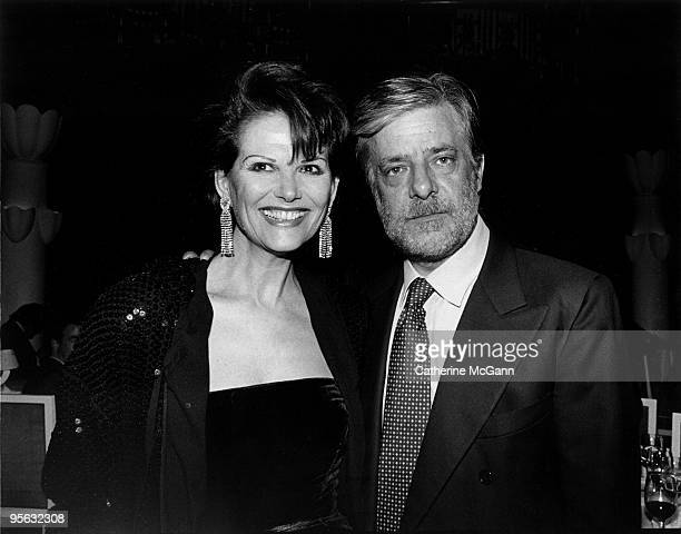 Italian actors Claudia Cardinale and Giancarlo Giannini pose for a photo in 1992 in New York City New York