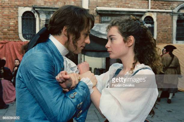 Italian actors Cristiana Capotondi and Stefano Accorsi star in TV film 'Le jeune Casanova' directed by Giacomo Battiato