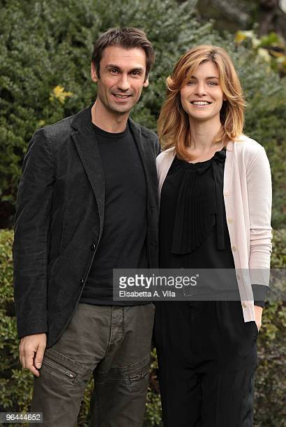 Italian actors Fabrizio Gifuni and Vittoria Puccini attend 'C'Era Una Volta La Citta Dei Matti' TV fiction photocall at RAI Viale Mazzini on February...