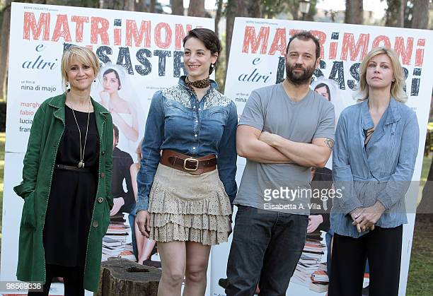 Italian actors Luciana Littizzetto Francesca Inaudi Fabio Volo and Margherita Buy attend a photocall for the movie 'Matrimoni E Altri Disastri' at...
