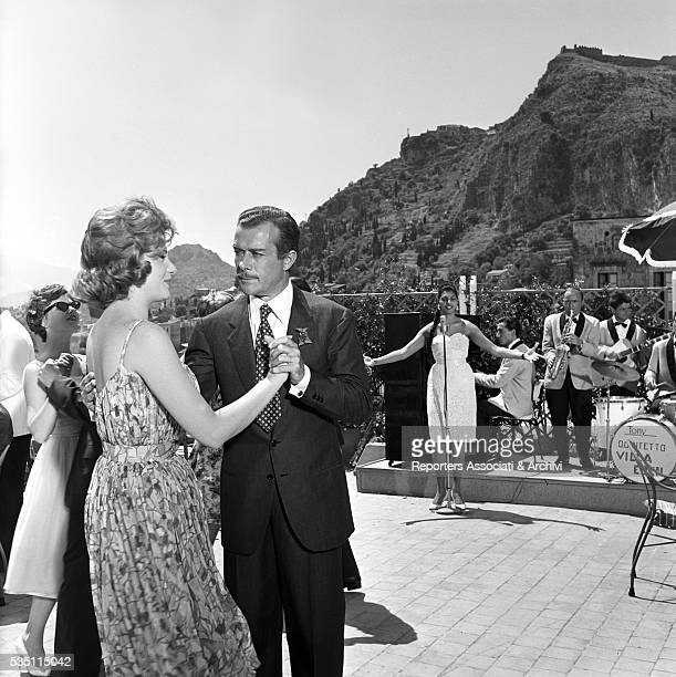 Italian actors Massimo Serato and Sylva Koscina dancing in the film Love the Italian Way Ischia 22nd June 1960
