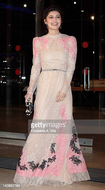 Italian actress Alessandra Mastronardi attends 'To Rome With Love' World Premiere at Auditorium Parco Della Musica on April 13 2012 in Rome Italy