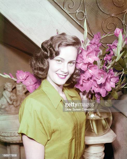 Italian actress Alida Valli with a bowl of flowers circa 1945
