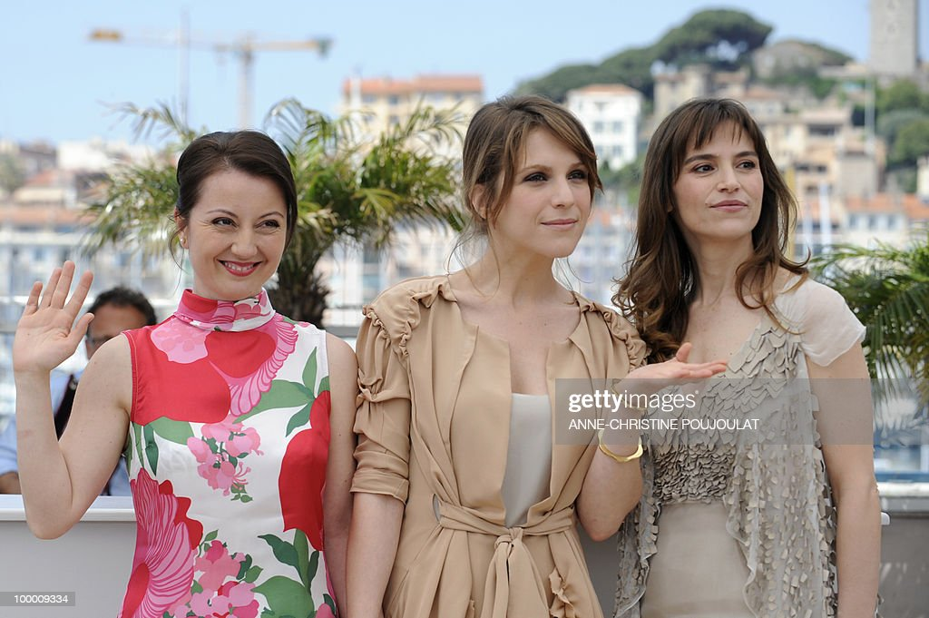 Italian actress Alina Berzenteanu, Italian actress Isabella Ragonese, Italian actress Stefania Montorsi pose during the photocall of 'La Nostra Vita' (Our Life) presented in competition at the 63rd Cannes Film Festival on May 20, 2010 in Cannes.