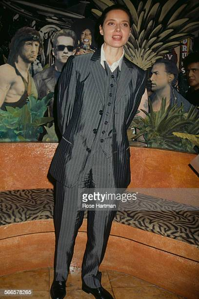 Italian actress and model Isabella Rossellini attends a fundraising event for the Dian Fossey Gorilla Fund Planet Hollywood New York City USA circa...