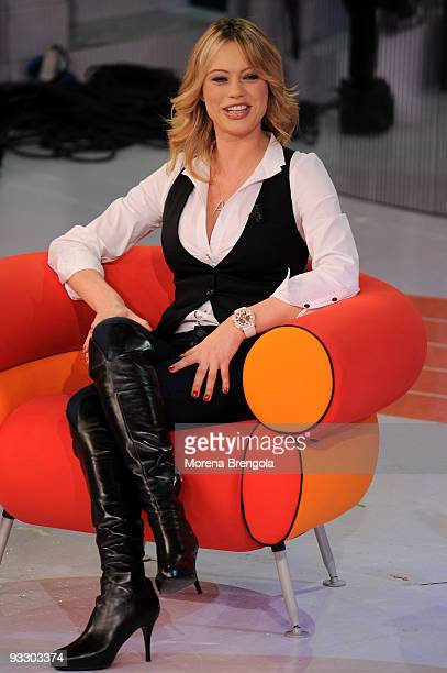 Italian actress Anna Falchi during Italian tv show 'Quelli che il calcio' on November 22 2009 in Milan Italy