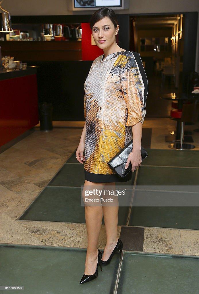Italian actress Anna Foglietta attends the 2013 Italian DVD Awards at Casa del Cinema on April 29, 2013 in Rome, Italy.