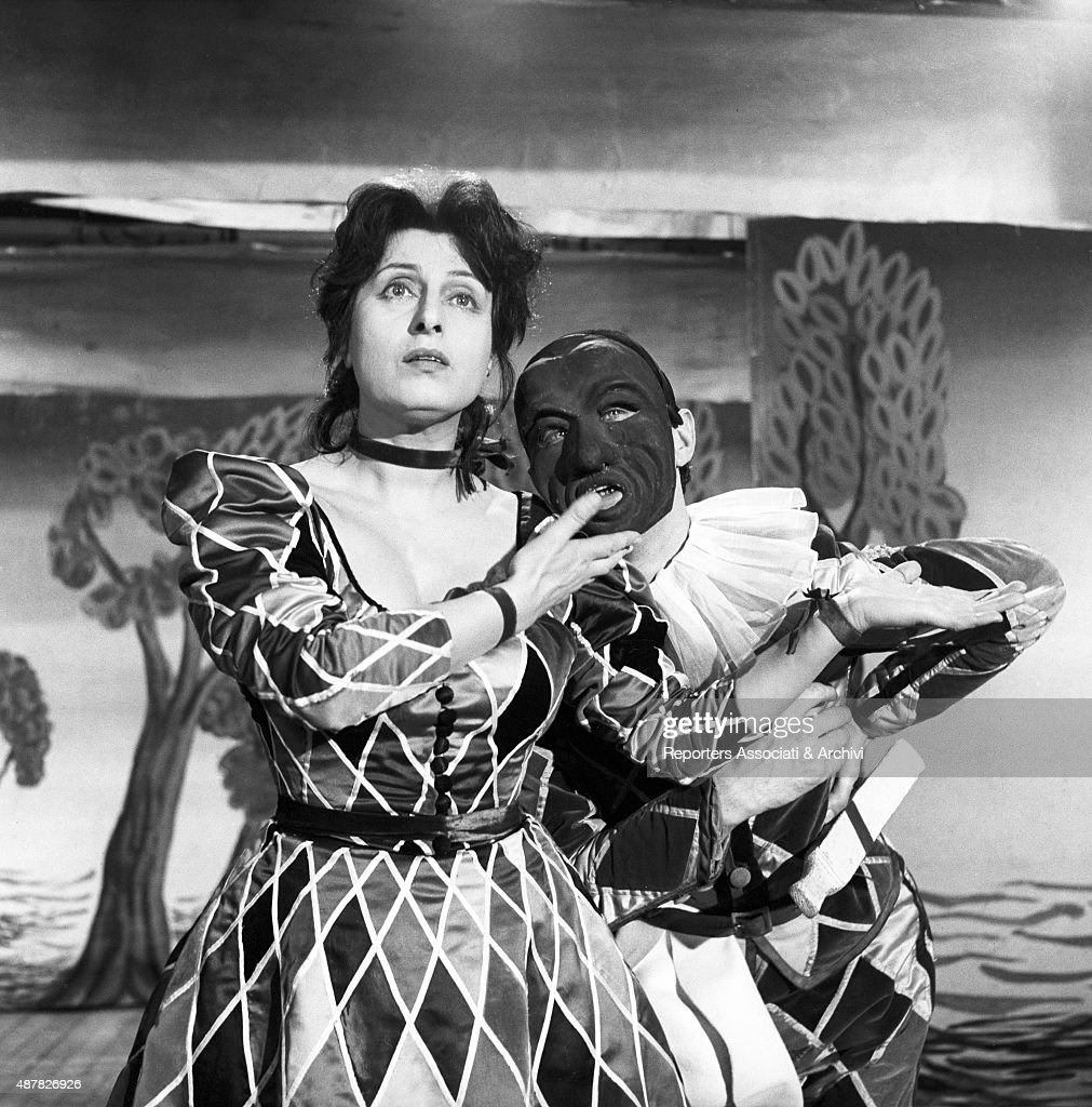 Italian actress Anna Magnani acting in The Golden Coach Italy 1952