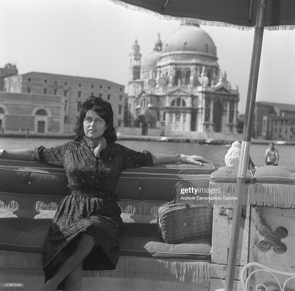 Italian actress Anna Magnani in Venice 1950