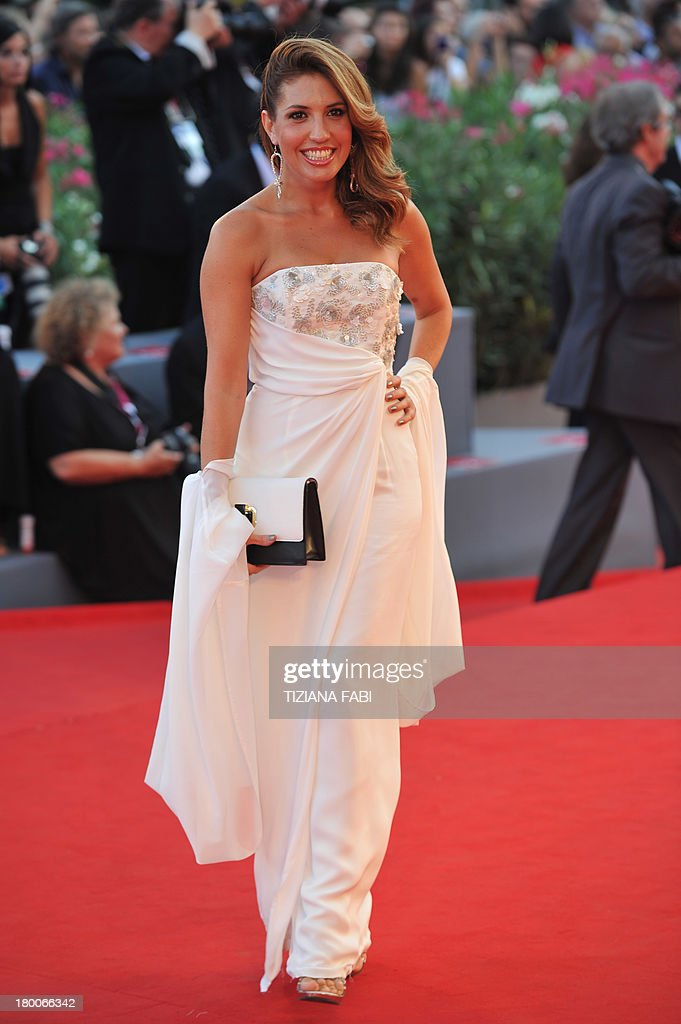 Italian actress Arianna Bergamaschi arrives for the award ceremony of the 70th Venice Film Festival on September 7, 2013 at Venice Lido.