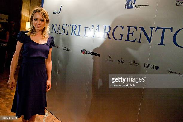 Italian actress Carolina Crescentini attends the 2009 Nastri D'Argento Nominations Dinner Party at Villa Medici on May 28 2009 in Rome Italy