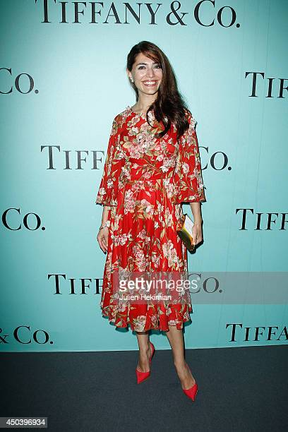Italian actress Caterina Murino attends the Tiffany Co Flagship Opening on the Champs Elysee on June 10 2014 in Paris France