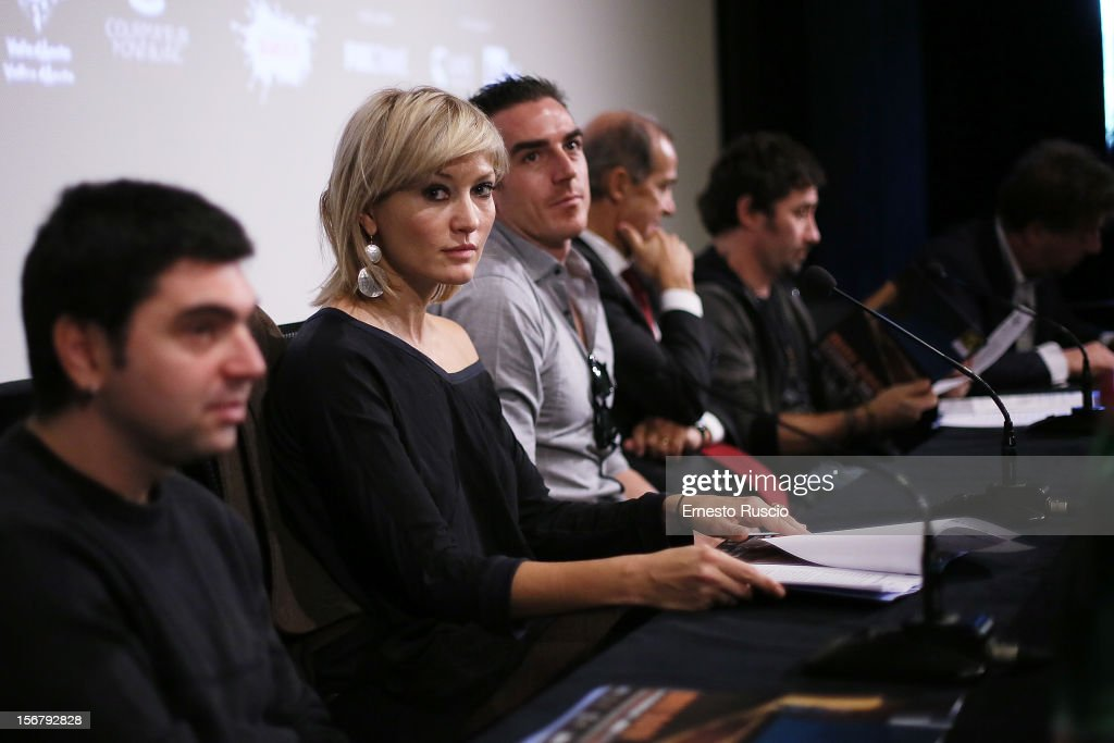 Italian actress Chiara Conti attends the 'XXII Courmayeur Noir in Festival' press conference at Casa del Cinema on November 21, 2012 in Rome, Italy.
