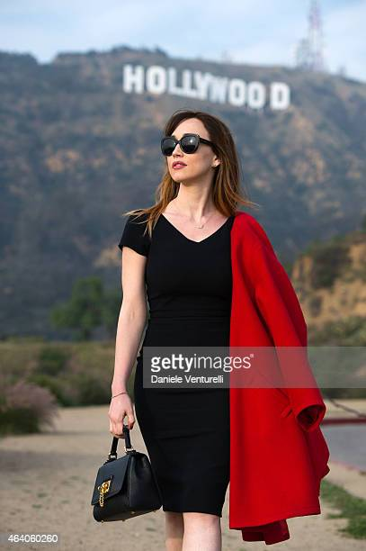 Italian actress Chiara Francini poses for portrait session at Hollywood Sign on February 21 2015 in Hollywood California