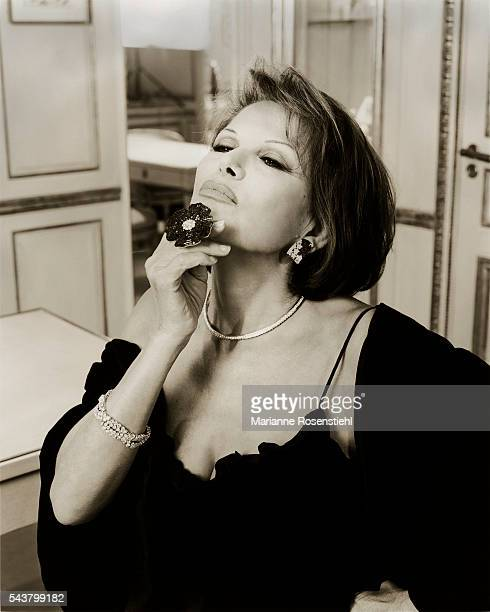 Italian actress Claudia Cardinale and ambassador for Van Cleef and Arpels