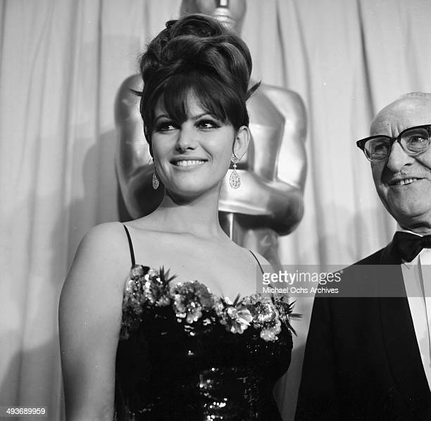Italian actress Claudia Cardinale attends the Academy Awards in Los Angeles California