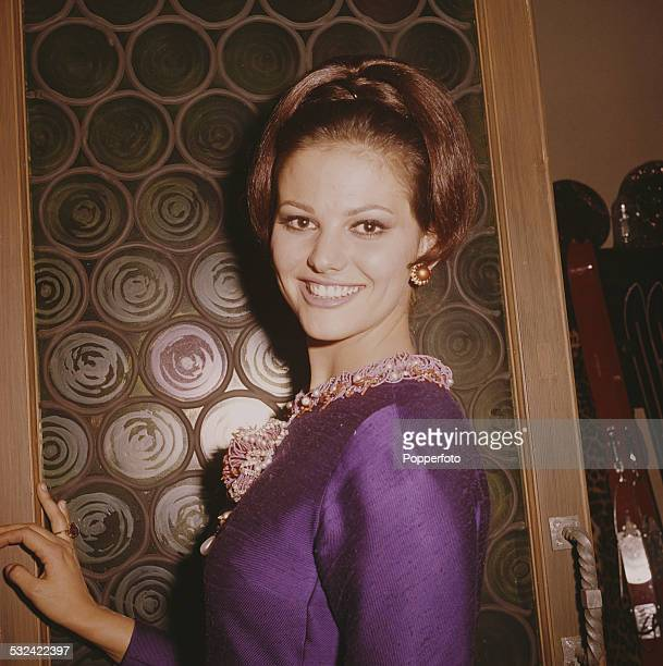 Italian actress Claudia Cardinale pictured in character as Princess Dala on the set of the film The Pink Panther in Rome Italy in 1962