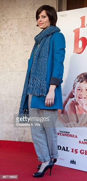 Italian actress Claudia Pandolfi attends 'La Prima Cosa Bella' photocall at Embassy Cinema on January 12 2010 in Rome Italy