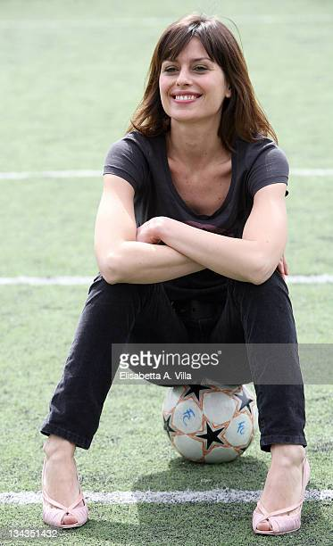 Italian actress Claudia Pandolfi attends the 'Amore Bugie And Calcetto' photocall at the Futbolclub on March 27 2008 in Rome Italy