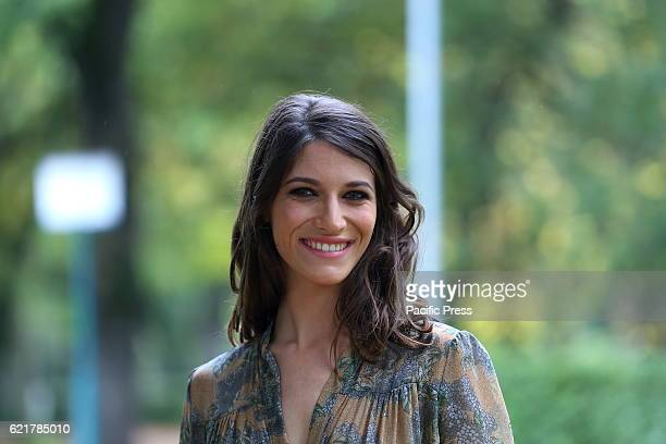 Italian actress Claudia Vismara during Photocall of new fiction 'Rocco Schiavone' produced by Rai Fiction and Cross Productions directed by Michele...