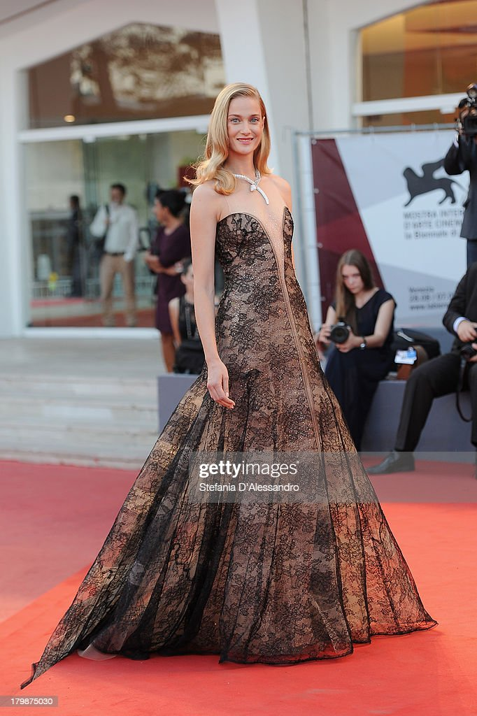 Italian actress <a gi-track='captionPersonalityLinkClicked' href=/galleries/search?phrase=Eva+Riccobono&family=editorial&specificpeople=885062 ng-click='$event.stopPropagation()'>Eva Riccobono</a> arrives at the closing ceremony of the 70th Venice International Film Festival at Palazzo del Cinema on September 7, 2013 in Venice, Italy.