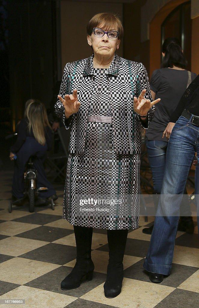 Italian actress Franca Valeri attends the 2013 Italian DVD Awards at Casa del Cinema on April 29, 2013 in Rome, Italy.