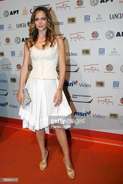 Italian actress Francesca Cavallin attends the premiere of television movie Il Generale Della Chiesa at Cinema Adriano during the RomaFictionFest on...