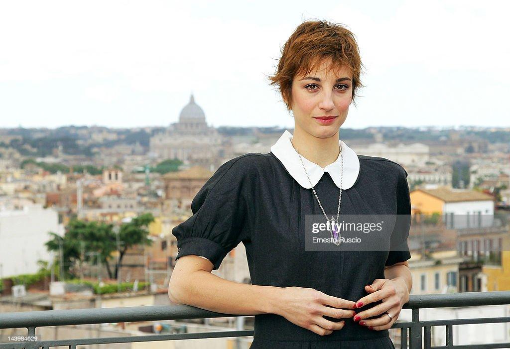 Italian actress Francesca Inaudi attends the 'Il Richiamo' photocall at Hotel Bernini on May 7 2012 in Rome Italy