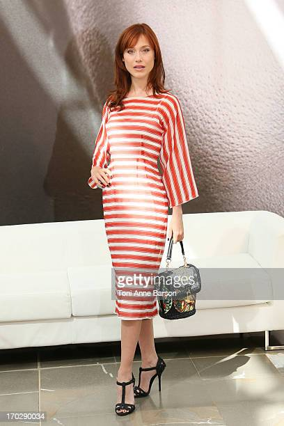 Italian actress Gabriella Pession poses during a photocall for the TV show 'Crossing Lines' as part of the 53rd MonteCarlo Television Festival on...
