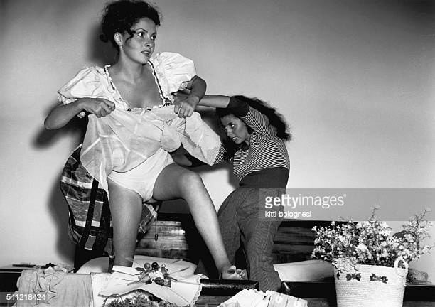 Italian actress Gina Lollobrigida came third in the Miss Italy competition behind Lucia Bose and Gianna Maria Canale