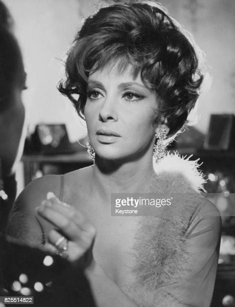 Italian actress Gina Lollobrigida filming 'Un Bellissimo Novembre' in Catania Sicily March 1968