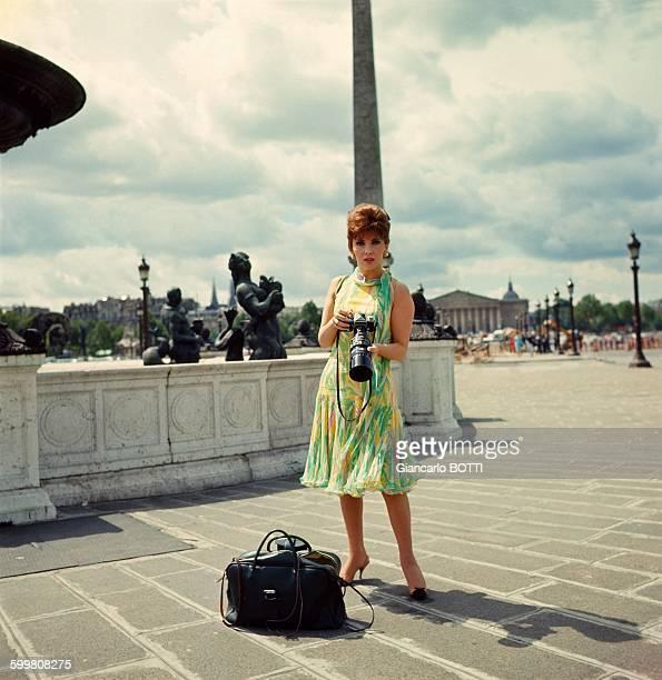 Italian actress Gina Lollobrigida in Paris France in July 1965