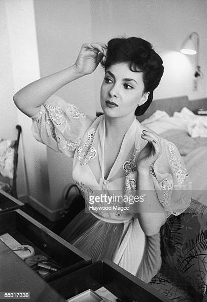 Italian actress Gina Lollobrigida visits London for the Italian Film Festival 5th July 1952 Original Publication Picture Post 5952 Stars Bring...